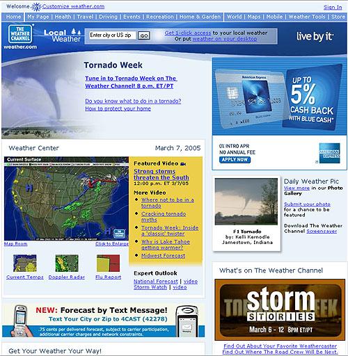 Web Site Case Studies - weather com